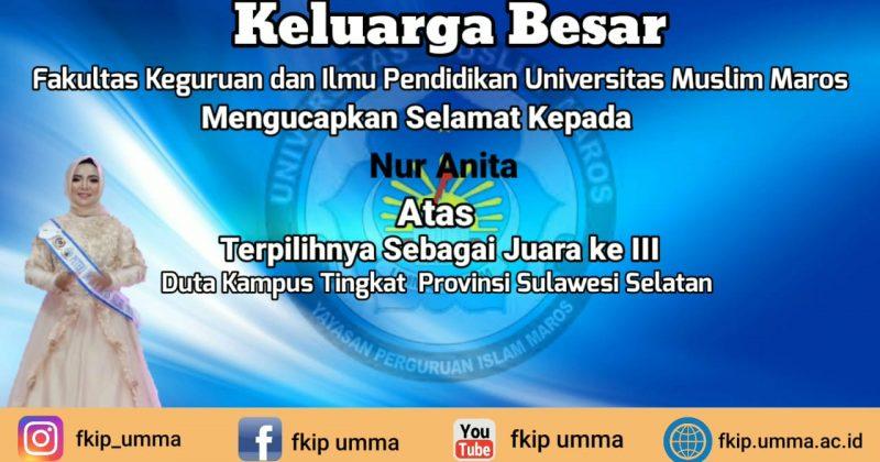 Mahasiswa FKIP UMMA Juara III Duta Kampus Tingkat Provinsi